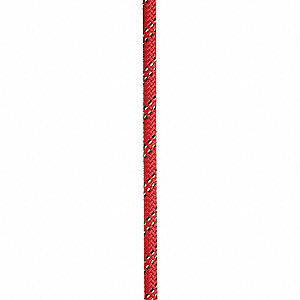 "Polyester Fall Protection Rope, 1/2"" Rope Dia., 200 ft. Length, Red"