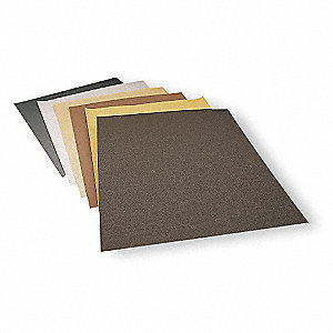"Very Fine Silicon Carbide Sanding Sheet, 280 Grit, 11"" L X 9"" W, Backing Weight : A, 1 EA"
