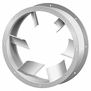 Tubeaxial Fan Vane Section,27 In. H