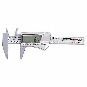 "Carbon Fiber Fractional Digital Caliper , 0.0005""/0.01mm Resolution"