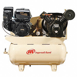 "30 gal. 40-39/64"" x 45-7/64"" x 22"" Stationary Air Compressor&#x3b; Fuel Type: Gasoline"