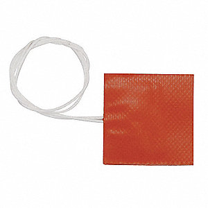 Flexible Strip Heater, Adhesive Backing, 120VAC, Watts 500, Overall Length 10""