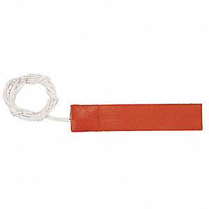 Flexible Strip Heater, Adhesive Backing, 120VAC, Watts 280, Overall Length 9""