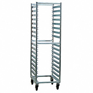 Poly Box Storage Rack,16 Pan Capacity
