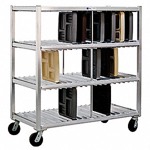 Mobile Tray Drying Rack,3 Levels
