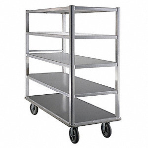 Queen Mary Cart,Aluminum,5 Shelves