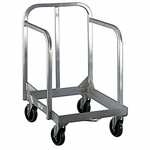 "27"" x 21"" x 44-1/2"" Aluminum General Purpose Dolly with 1000 lb. Load Capacity, Silver"