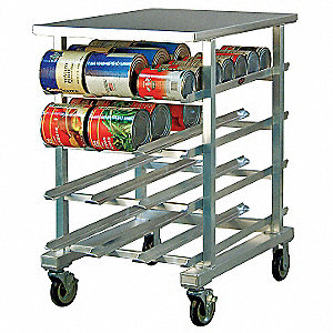 "25"" x 35"" x 41"" Aluminum With Aluminum Top Can Rack"