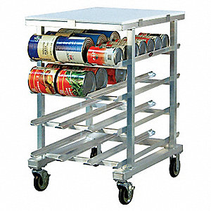 "25"" x 35"" x 41"" Aluminum With Poly Top Can Rack"