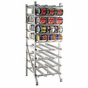 Can Rack,25In. W x 35In. D x 71In. H