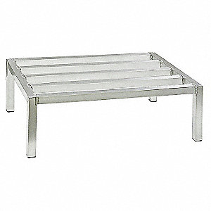 "48"" x 24"" x 8"" Aluminum Dunnage Rack with 2000 lb. Load Capacity, Silver"