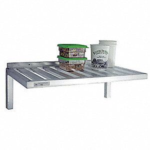 "Ventilated Aluminum T-Bar Wall Shelf, 60""W x 20""D x 13-1/2""H, No. of Shelves: 1"