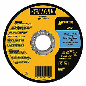 Dewalt 6 Quot Type 1 Aluminum Oxide Abrasive Cut Off Wheel