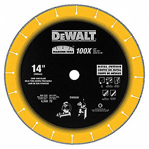 "14"" Dry Diamond Saw Blade, Segmented Rim Type"