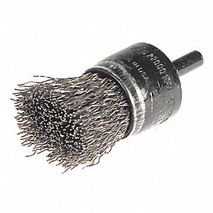 "3"" Knot Wire End Brush with Carbon Steel Fill Material and 0.020"" Wire Dia."