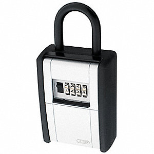 Lock Box, Combination, 20 Key Capacity, Mounting Type: Padlock