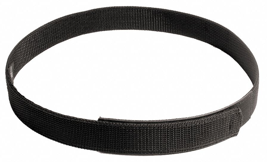 Inner Belt With Hook and Loop, Nylon Web, Black, Width: 2 in, Size: Waist 32 to 36