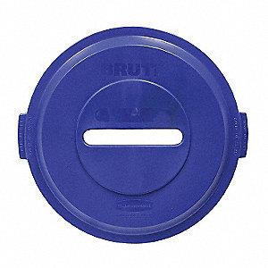 32 GAL BRUTE PAPER RECYC TOP - BLUE