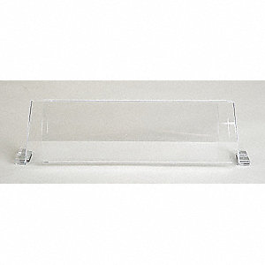 Baseboard Register Air Deflector, Clear