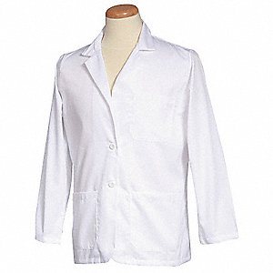 Consultation Jacket,L,White,30 In. L