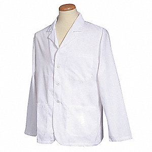 Lab Coat,M,White,28-1/2 In. L
