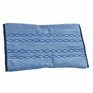 "Microfiber Quick Change 12"" x 17-1/2"" Wet Mop Head, Blue"
