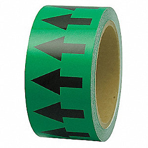 "Arrow Tape, Black/Green, Polyethylene, 1"" x 108 ft."