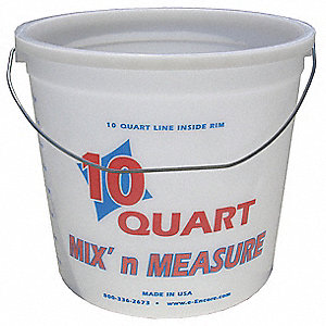 Paint Pail,10 qt,Hi Density Polyethylene