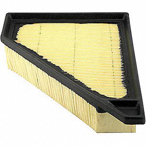 Air Filter,1-1/32 to 8-3/16 x 2-3/32 in.