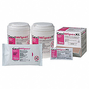 "160 Disinfecting Wipes, 6 x 6-3/4"", 1 EA"