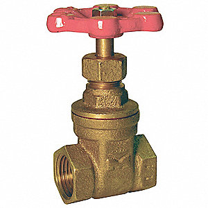 "FNPT Gate Valve, Inlet to Outlet Length: 2.76"", Pipe Size: 2"", Max. Fluid Temp.: 176°F"