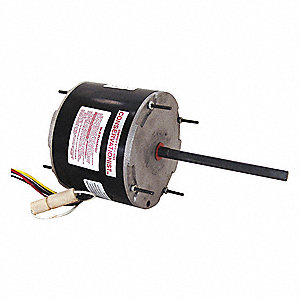 1/3 to 1/6 HP Condenser Fan Motor,Permanent Split Capacitor,1075 Nameplate RPM,208-230 Voltage,Frame
