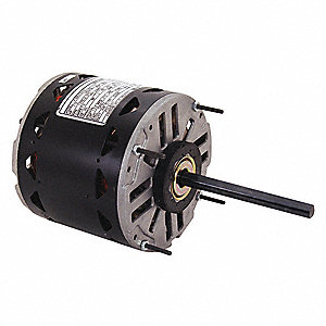 3/4 to 1/5 HP Direct Drive Blower Motor, Permanent Split Capacitor, 1075 Nameplate RPM
