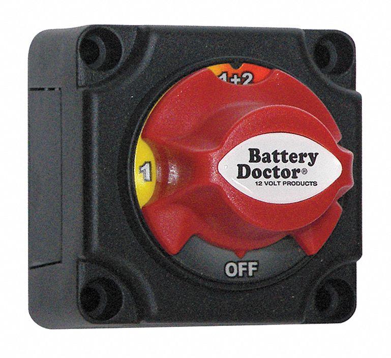 BATTERY DOCTOR 20238 Battery Disconnect  Switch,Negative,12V