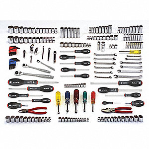 SAE and Metric Master Tool Set, Number of Pieces: 205, Primary Application: General Purpose