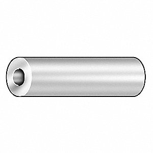 "1/8"" Low Carbon Steel Round Spacer with 1/4"" Screw Size, Chrome; PK5"