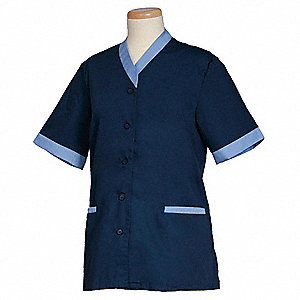 Women's Shirt, Navy/Ciel, 2XL