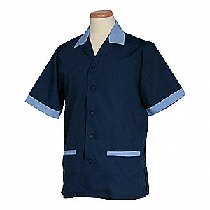 Men's Shirt, Navy/Ciel, 2XL