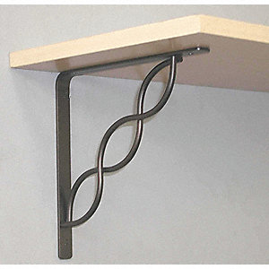 8 IN  Black Scroll  Shelf Bracket