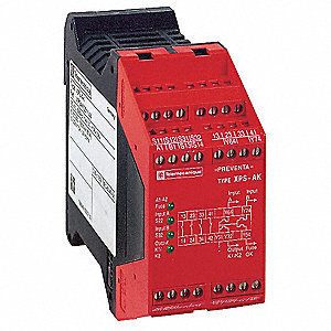 Safety Monitoring Relay, 7NO/2NC Aux./4SS, Contact Load Rating: 2.5A, Input Voltage: 24VAC/DC