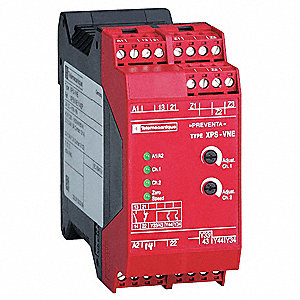 Safety Monitoring Relay, 1NO/1NC/2SS, Contact Load Rating: 2.5A, Input Voltage: 120VAC