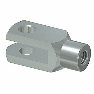 Zinc Plated Steel Clevis Clip with Bolt; For Use With Gas Springs
