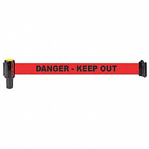 Barrier System Head,12f,Danger Keep Out