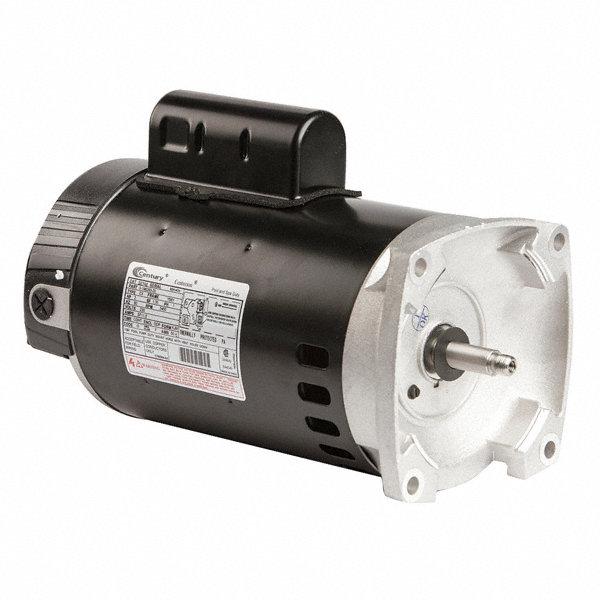 Century 2 hp square flange pool pump motor permanent for Pool pump motor capacitor replacement