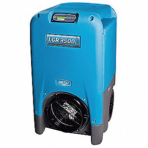 "Low-Grain Portable Dehumidifier, 115V, 10.5 Amps, Depth 24"", Width 23"", Height 40-1/2"""