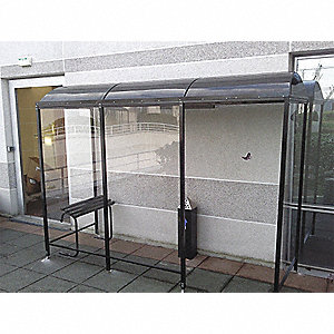 Smoking Shelter - 3-Sided