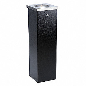 Black Cigarette Receptacle