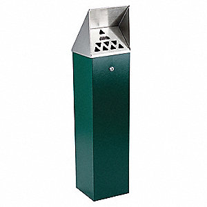Green Cigarette Receptacle