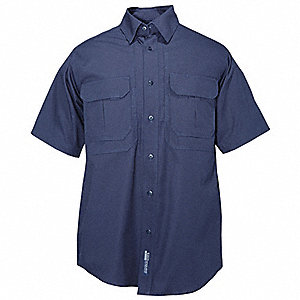 Woven Tactical Shirt, Fire Navy, L