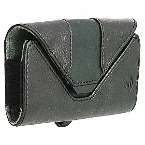 "Leather Holster Small Horizontal, Black Oilskin Leather, 1-1/4"" Height, 3-7/8"" Width, 2-1/2"" Depth"